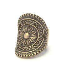 USA SELLER NEW BOHEMIAN AZTEC FLORAL GRECIAN GOLD STRETCH FREE P STYLE RING