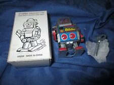 MINI ROBOT Die-Cast Metal/Tin Robot by Schylling w/Wind-Up Key