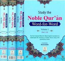 Study The Noble Qur'an - Coloured Word-for-Word (3 Volume Set) (Hardback)