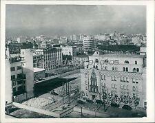 1945 World War II Tokyo Before Bombing Original News Service Photo