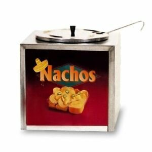 Gold Medal Counter Top Nacho Cheese Warmer Cabinet with Lighted Sign
