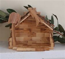 Olive Wood Handcrafted Stable from Bethlehem