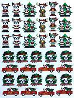 Boston Terrier Christmas Glossy Vinyl Stickers