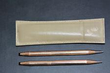 Vtg Cross 14K Filled Gold Mechanical Pencil & Pen Set Floral Rose Design & Pouch