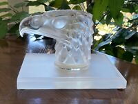 Lalique Eagle Head Book End Signed Lalique France and guaranteed authentic