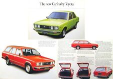 Toyota Carina 1600 Saloon Estate 1978-79 original UK Sales Brochure