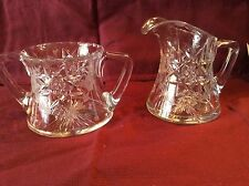 American Brilliant Cut Glass Hawkes Sugar and Creamer #21SC
