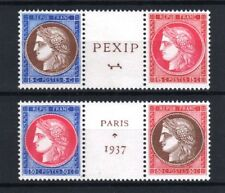 """FRANCE STAMP TIMBRE 348 / 351 """" CERES EXPOSITION PEXIP 1937 """" NEUFS xx LUXE R126"""