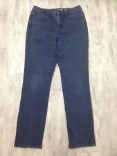 Women's JONES NY Bryant Park Slim Dark Wash Mid Rise Skinny Blue Jeans Sz 10 L30