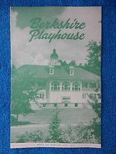 Mister Roberts - Berkshire Playhouse Theatre Playbill - August 31st, 1953