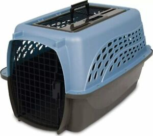 Petmate Two Door Top Load 24-Inch Pet Kennel, Pearl Ash Blue/Coffee Ground