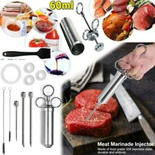 Siringa per Arrosti e Marinata BBQ Iniettore con 3 Aghi in Acciaio + artiglio