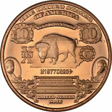 Lot of 20 - 1 oz Copper Round - $10 Bison Note