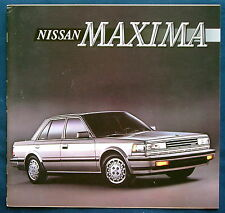 Prospekt brochure 1986 Nissan Maxima (USA)