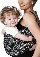 Hotslings Black & White  Swirl Design Silhouette Baby Sling Hot Slings Large
