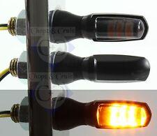 Blinker - Motorrad - LED - Spark - sehr klein- schwarz - Glas getönt
