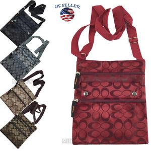 New Ladies Thin Flat Crossbody Purse Bag Wallet Travel Shoulder Messenger bag