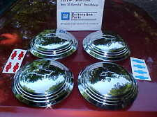 36 chevy truck hub caps for corvette rally style wheels,stainless,GM rat rod