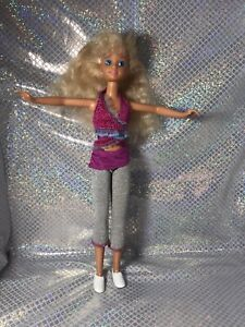 Vtg 80s Barbie SKIPPER/STACIE Thick Wavy Hair Blue Eyes glitter  Outfit & Shoes