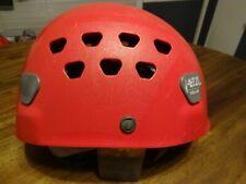 Petzl Ecrin Roc Climbing Helmet Climbing, Caving Sz 53- 63cm Red Adjustable