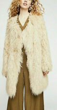 Free People Florence Shaggy Faux-Fur Coat $398 Size XS # 4B 464 NEW