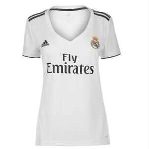 Brand New! Ladies adidas Real Madrid Home Shirt Fly Emirates Jersey size 10
