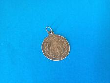Ancien Pendentif Médaille Argent 1858 Saint Bruno / Antique Silver Medal