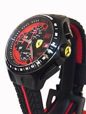 Men's Scuderia Ferrari Heritage Race 830077 Chronograph Black Red Strap Watch