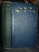 1924 Uncensored Recollections, Stories Upperclass Social Life New York, Paris