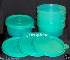 New Tupperware Snack Serving Bowls 7 oz Toucan Teal Set of 4