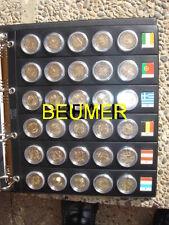 10 Hojas para monedas de 2€uros en CAPSULAS.Burbujas.