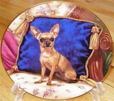 VERY RARE Danbury Mint Chihuahua Little Prince Christopher Nick Plate MINT