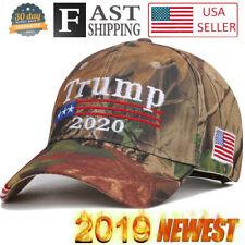 Donald Trump 2020 Hat USA Flag Camouflage Baseball Cap MAGA Hat  Embroidery AA++