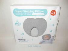 BabeBay Head Shaping Pillow Memory Foam 0+ Yr Flat Head Prevention Neck Grey New