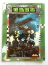 Warhammer 40000 40K Codex Orks Games Workshop 1999 edition