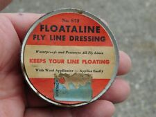 VINTAGE FLOATALINE FLY LINE DRESSING TIN WITH WOOL APPLICATOR