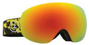 Electric Unisex EG3.5 Snowboard Ski Goggles -Red Yellow Splatter/Red Chrome Lens