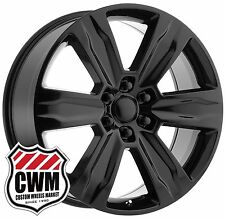 "22x9"" OE Performance 172GB Ford F-150 2015 Platinum Black Wheels Rims 6x135 +44"