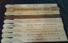 vintage lot 9 wooden Sears, Roebuck and Co. paint sticks stirrers