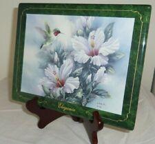 Elegance Bradford Exchange Hummingbird Lena Liu 9x7in porcelain collector plate