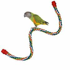 New listing Bird Perch- Cage Rope for Parrot/Parakeet/Cockatiel Bungee Toy Comfy Colorful