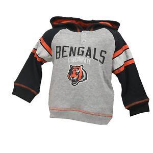 Cincinnati Bengals NFL Official Toddler Distressed Hooded Sweatshirt New Tags