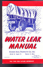 Water Leak Manual Rubber Seal Products 1955 Booklet