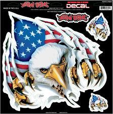 Lethal Threat Rip n Tear American Eagle 12x12 Inches Decal Sticker Car SUV Truck
