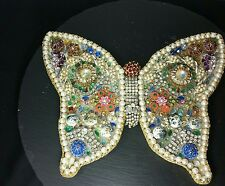 Vintage Costume Jewelry Butterfly Sparkling Art One of a Kind