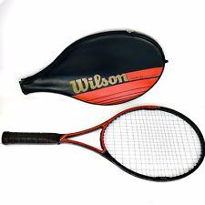 "Wilson Javelin Largehead 100% Graphite Tennis Racquet Black 4 3/4"" Grip W Cover"