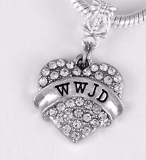 WWJD Charm Fits European style Bracelet Jesus charm Savior Christ the son gift
