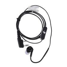 2Pin Sports Earpiece Headset w/ PTT MIC for BAOFENG Retevis Radios Black K1B