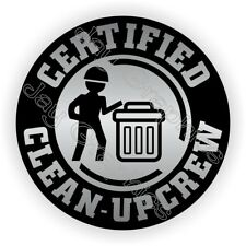 Hard Hat Sticker / Funny Clean-Up Crew / Helmet Decal Stickers Foreman Laborer