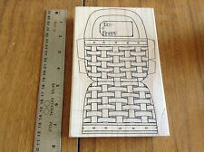 * RETIRED RUBBER STAMP * LIMITED EDITION *2002* LG BASKET CUT OUT - TO: & FROM: